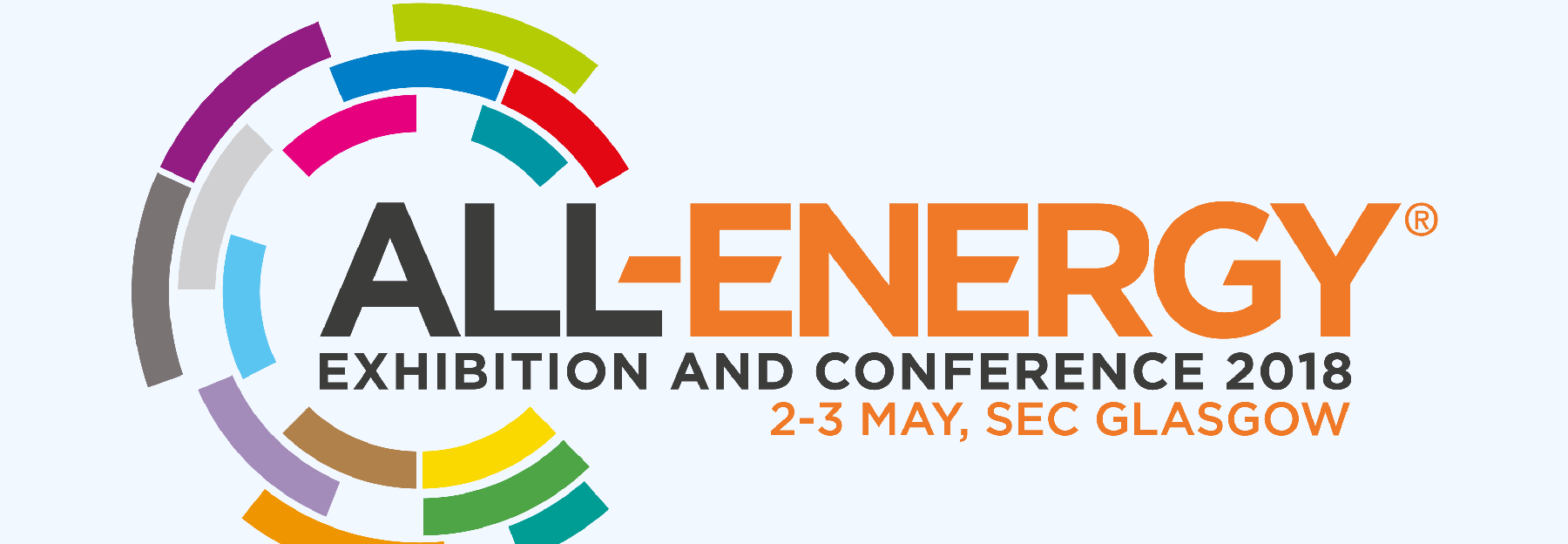 All Energy Exhibition and Conference in Glasgow, May 2nd & 3rd 2018