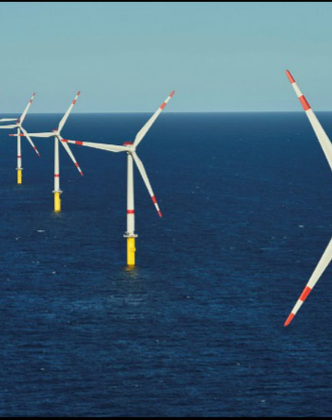 Windfit installed on turbines  operating on an offshore windfarm.